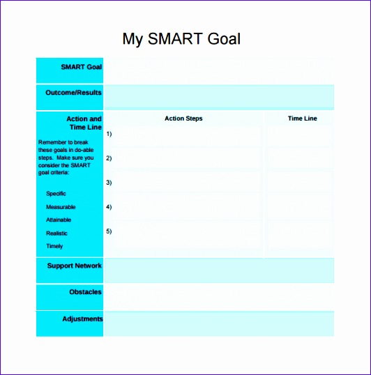 smart goals template 532538