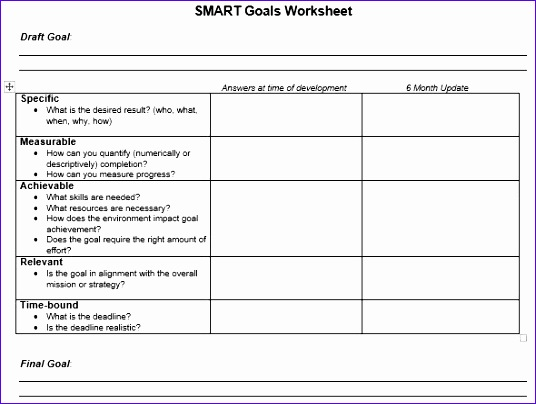smart goals template for employees - 10 smart goals template excel exceltemplates