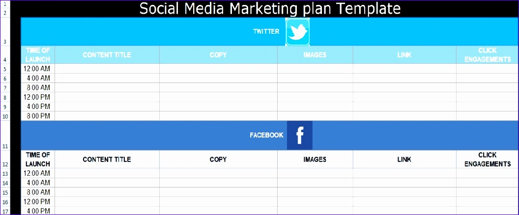 social media marketing plan template free 1056438