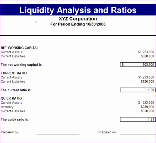 liquidity analysis ratios 31 500461