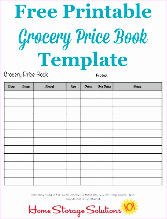 grocery price book 546714