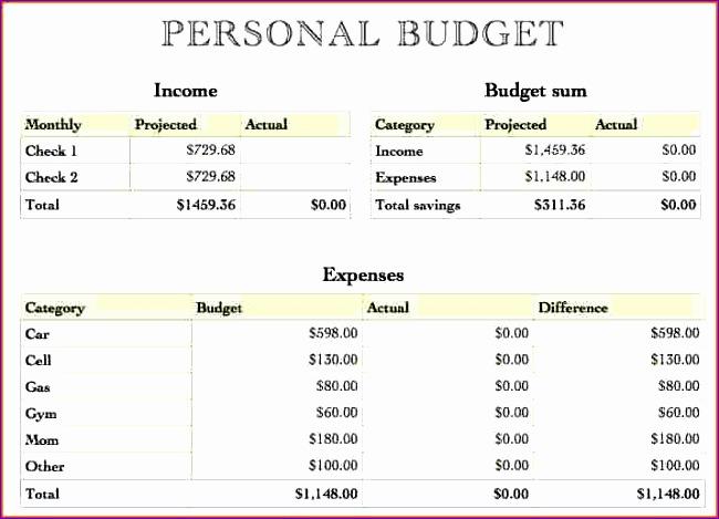 financial bud template 650469