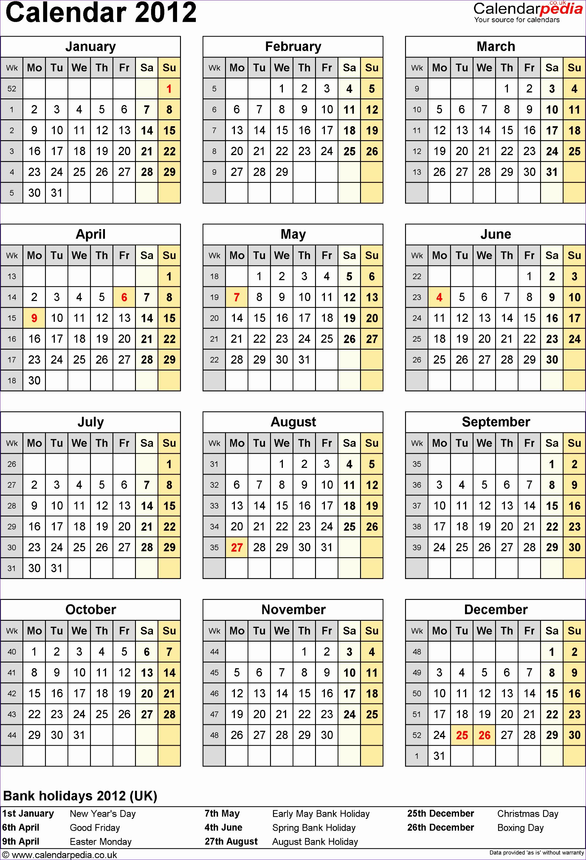 calendar 2012 19662883