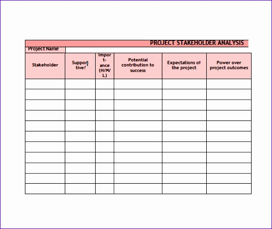 Stakeholder Analysis Template Excel  Exceltemplates  Exceltemplates