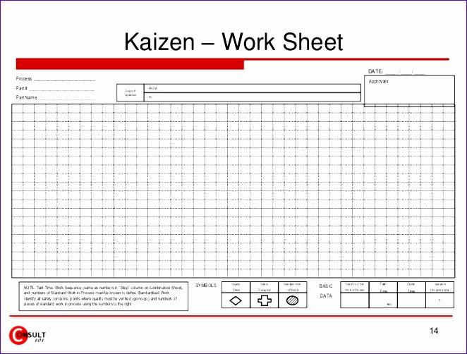 kaizen forms checklists