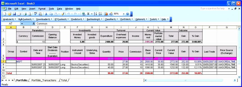 excel portfolio tracking 1075387