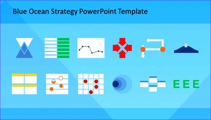blue ocean strategy powerpoint template 872496