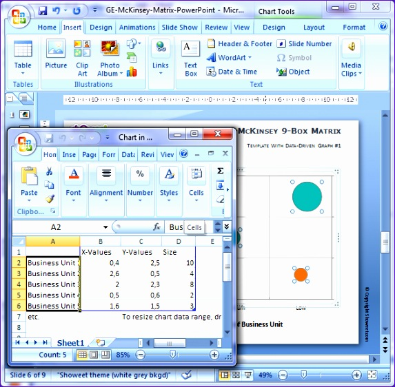 matrice ge mckinsey pour powerpoint