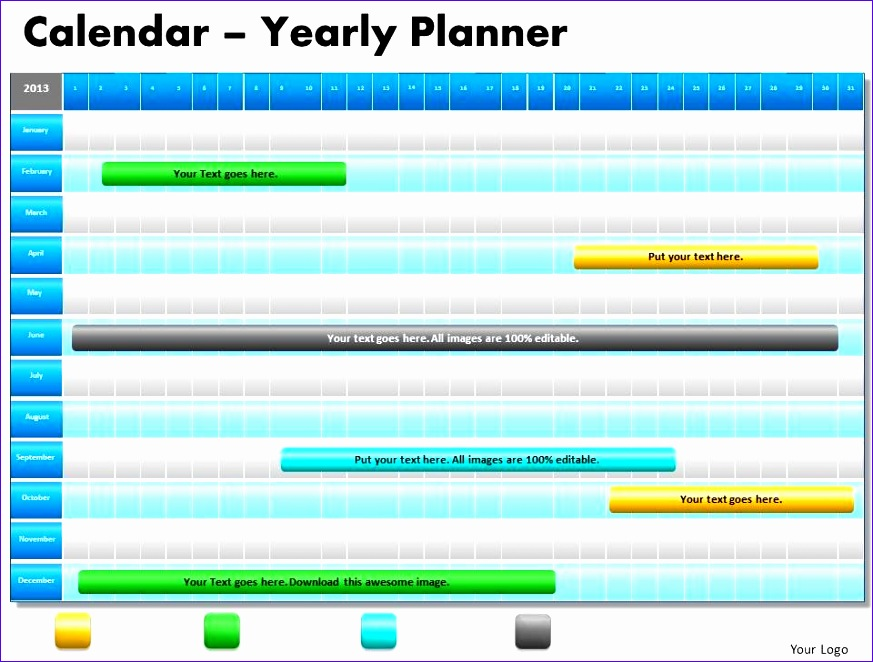 1 year planning gantt chart powerpoint slides gantt ppt templates