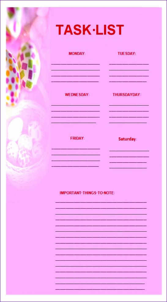 task list template 546987