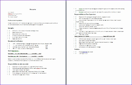 sample resume o levels with experience 546353
