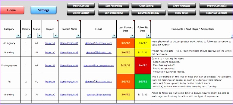 8 task tracker excel template