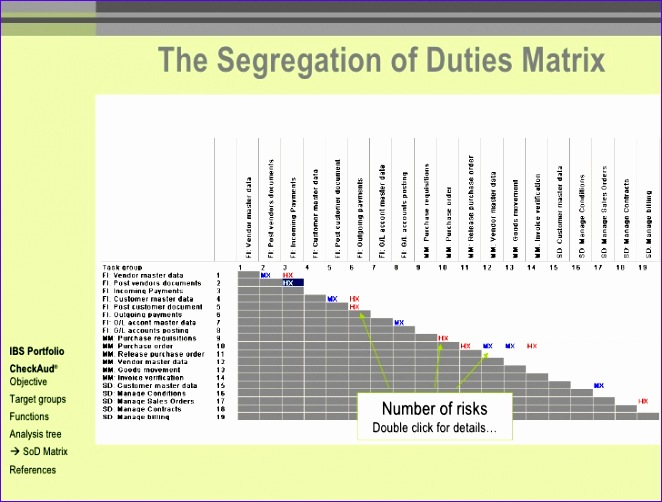 segregation of duties matrix template excel 662502
