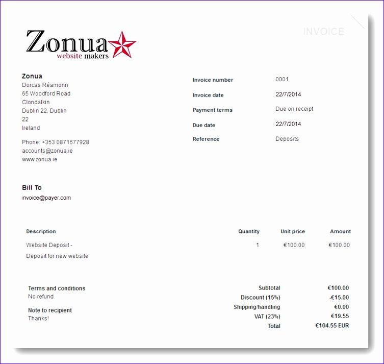 deposit invoice template 2440 753713