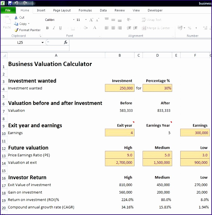 business valuation calculator 681691