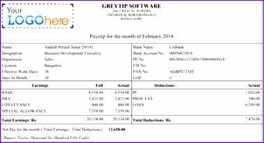 business salary slip 380206