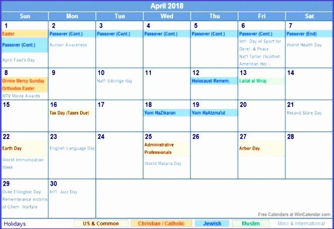 april 2018 calendar with holidays 2546 662454
