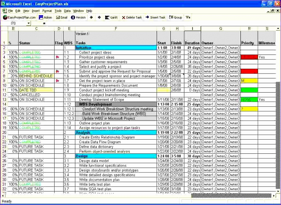 3 excel project plan template 933680