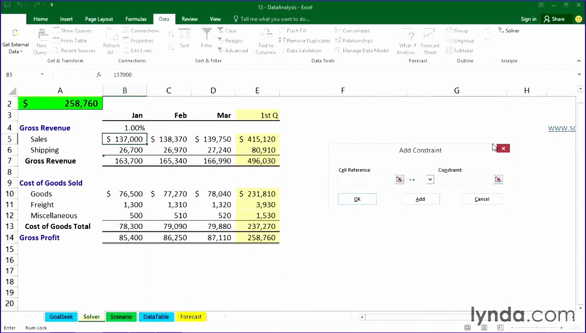 Templates Excel 2007 O9zjm Inspirational 14 02 Using solver How to Excel 2016 Tutorials 1280720