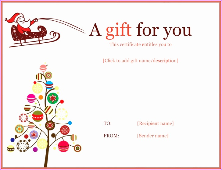 free christmas t certificate template 728558