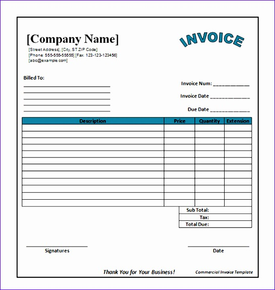 free business invoice template s 1131