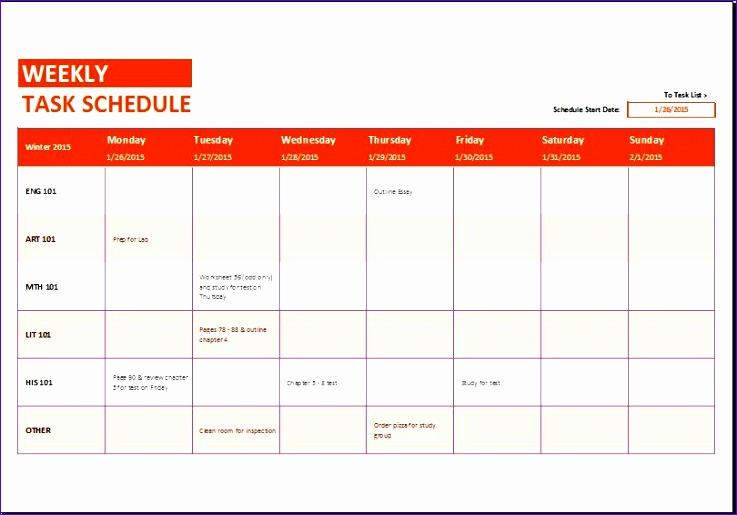 work schedule templates 737515