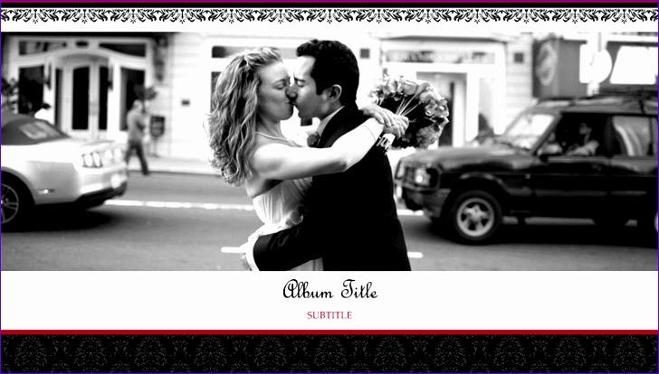 Templates for Microsoft Excel Ostdx New Wedding Photo Album Black and White Design Widescreen 800450