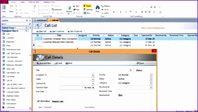 access call tracking customer order plaint or request database 578 407230