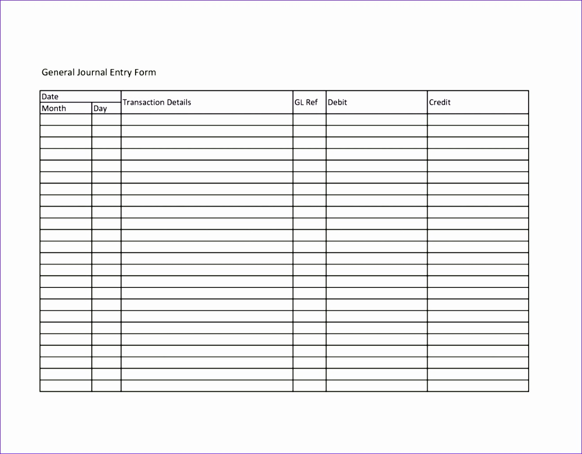 accounting journal template excel 886