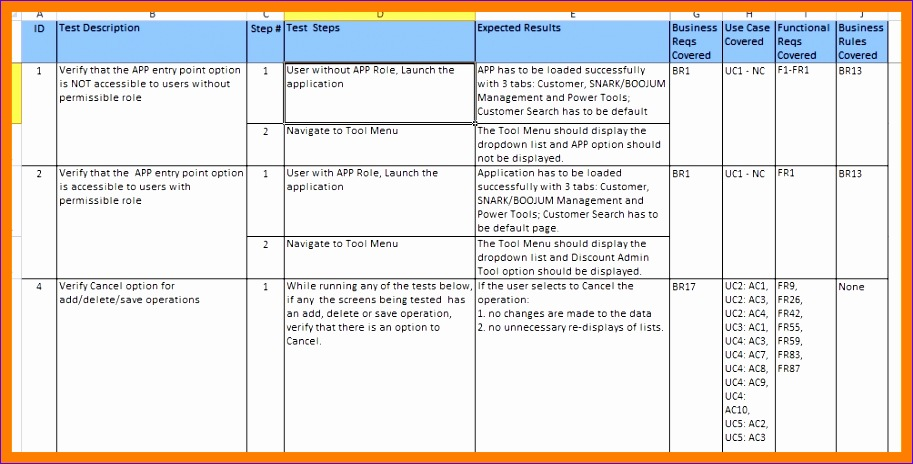 Test Case Template In Excel  Exceltemplates  Exceltemplates