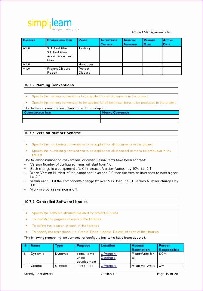 Project Management Plan Template 662947