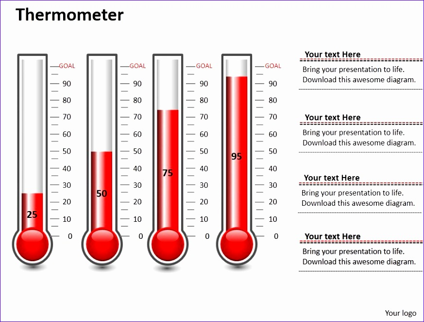 Thermometer Template Excel  Exceltemplates  Exceltemplates