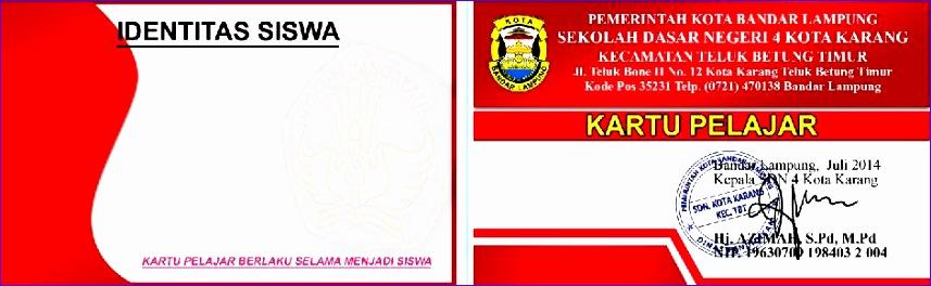 membuat kartu pelajar atau id card lainnya dengan microsoft access 857264