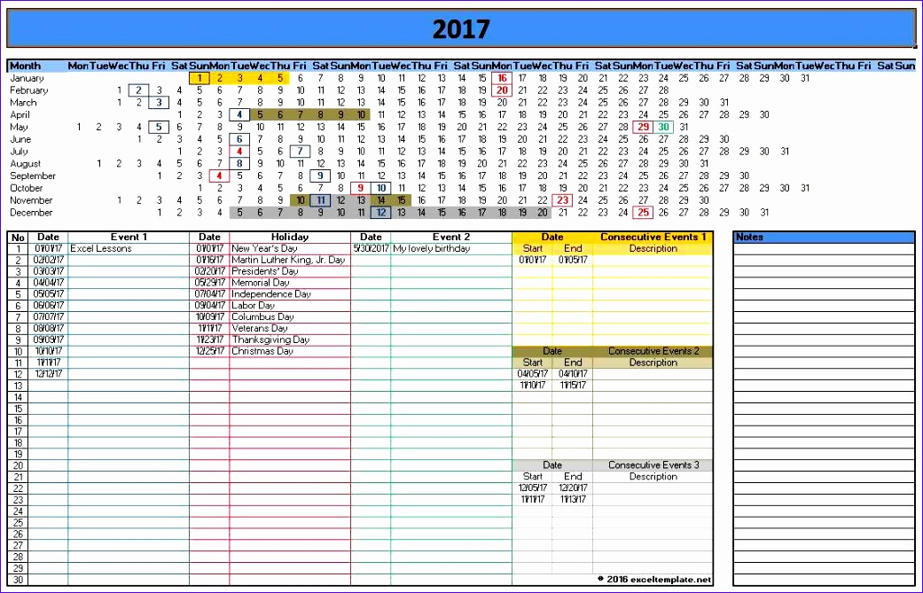 ms office calendar template 2017 1041669