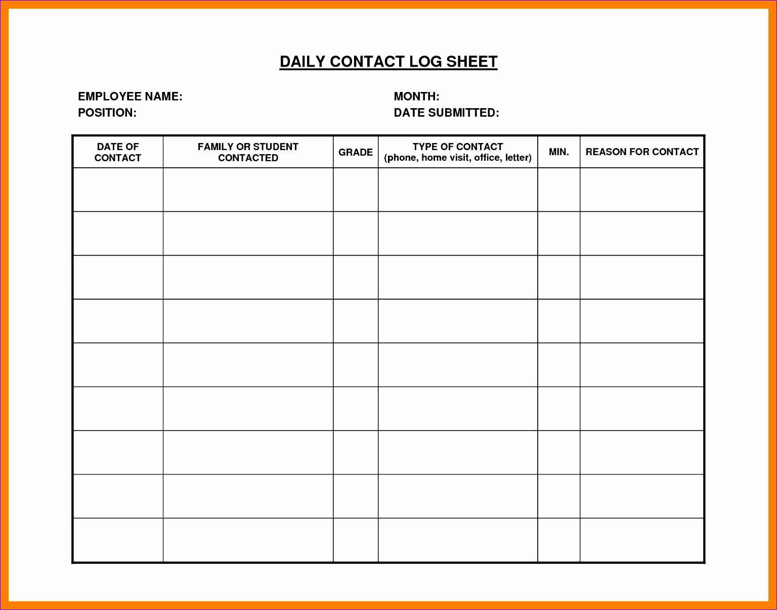 9 daily log sheet 15361207