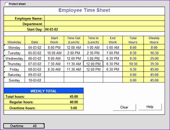 Time Sheet Excel Template NBds Unique Sample Time Sheet  Example