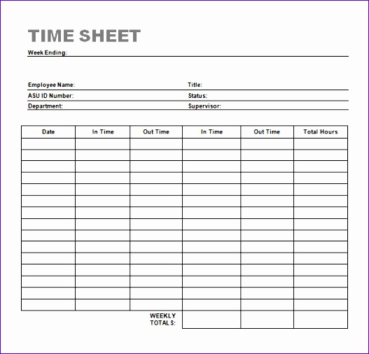 effective timesheet format and template sample for excel
