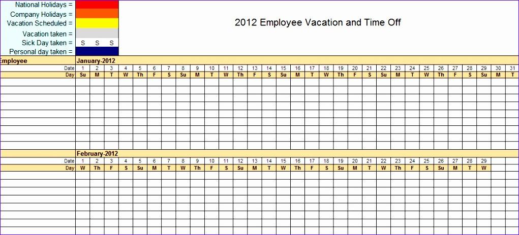 employee vacation calendar excel 328 1021463
