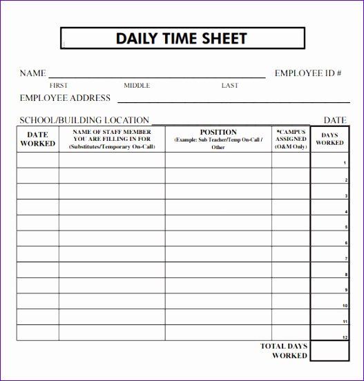 daily timesheet template 527552