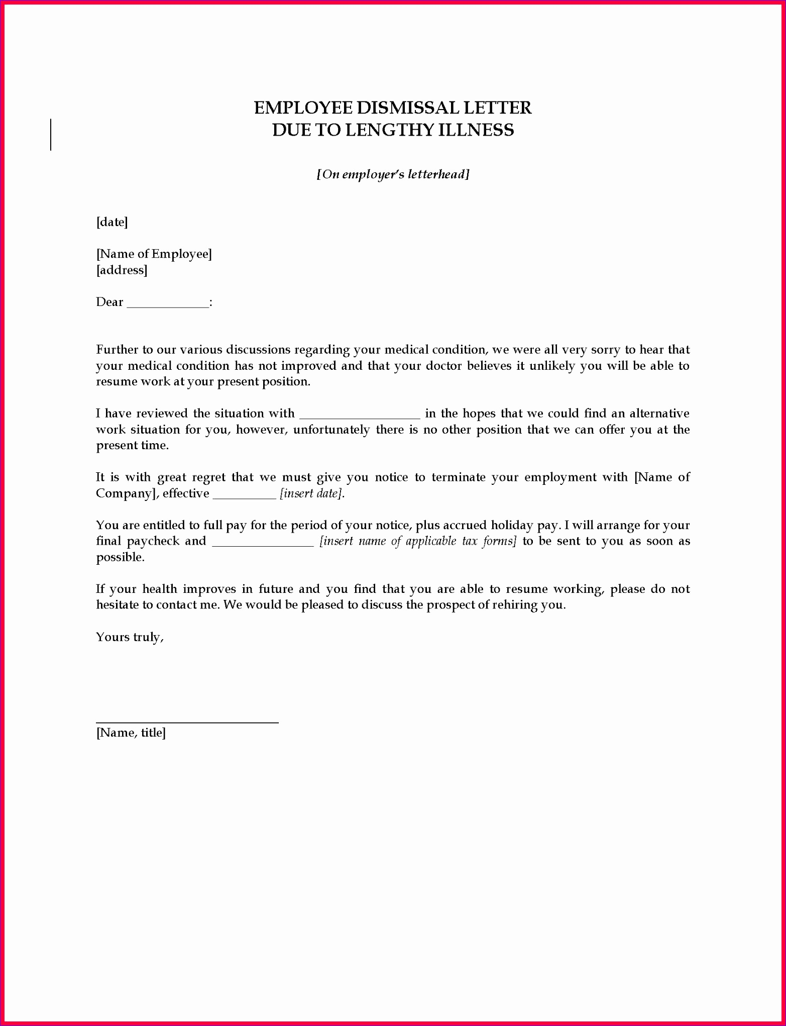 employee termination letter sample pdf 15652042