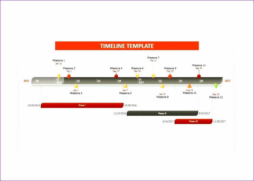 6 timeline template in excel - exceltemplates