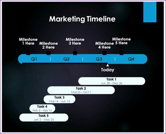 sample marketing timeline 546441
