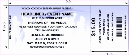 event ticket template 546232