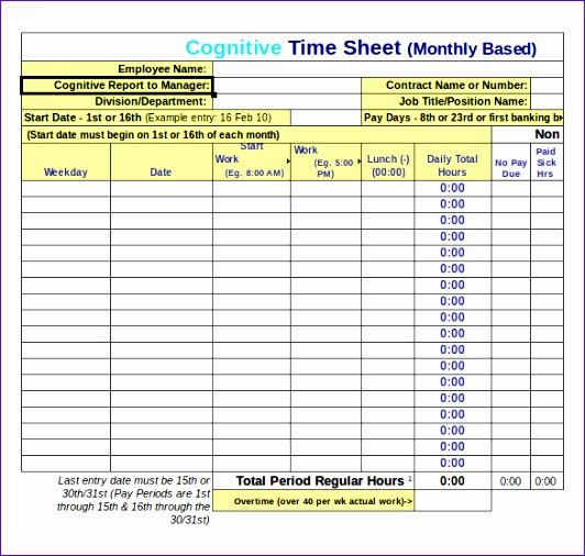 excel timesheet 532506