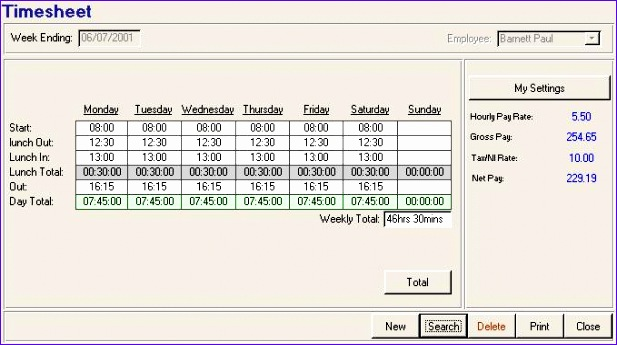 8 timesheet templates excel - exceltemplates