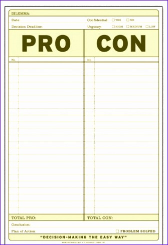 how to pros cons lists 335489
