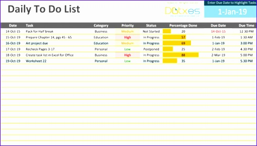 to do list excel template 758