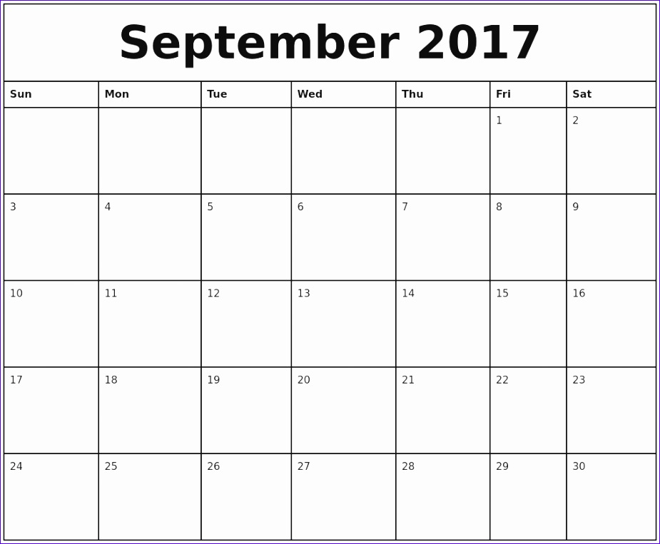 september 2017 calendar word 29 925763