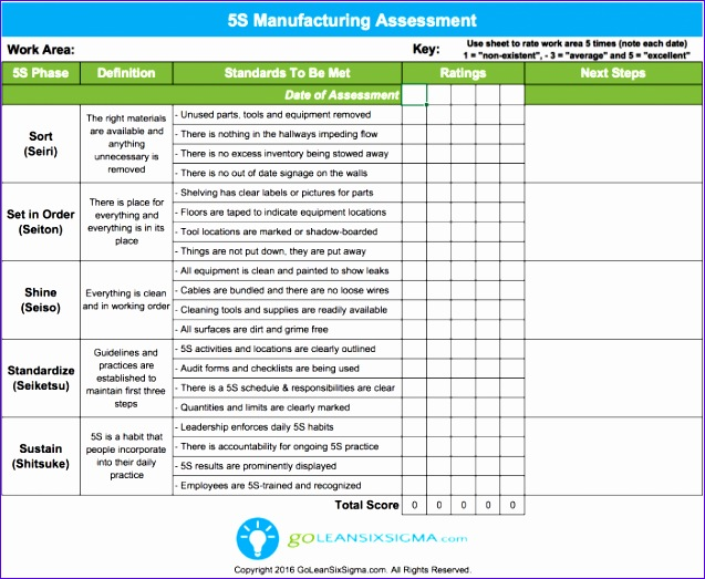 free lean six sigma templates 637523