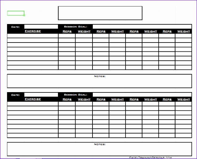 8 Training Diary Template Excel Exceltemplates Exceltemplates